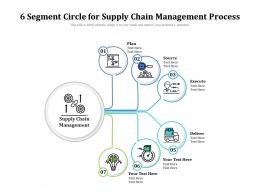 6 Segment Circle For Supply Chain Management Process