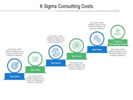 6 Sigma Consulting Costs Ppt Powerpoint Presentation Inspiration Diagrams Cpb