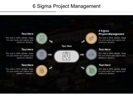 6 Sigma Project Management Ppt Powerpoint Presentation Pictures Elements Cpb