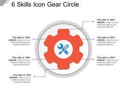 6 Skills Icon Gear Circle