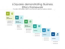 6 Squares Demonstrating Business Ethics Framework