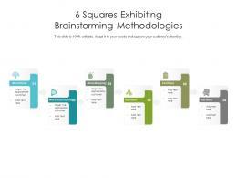 6 Squares Exhibiting Brainstorming Methodologies