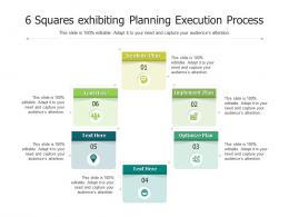 6 Squares Exhibiting Planning Execution Process
