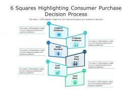 6 Squares Highlighting Consumer Purchase Decision Process