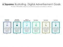 6 Squares Illustrating Digital Advertisement Goals
