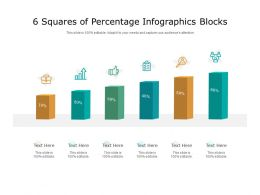 6 Squares Of Percentage Infographics Blocks