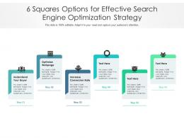6 Squares Options For Effective Search Engine Optimization Strategy