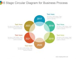 6 Stage Circular Diagram For Business Process Powerpoint Show