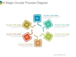 6 Stage Circular Process Diagram Powerpoint Slide
