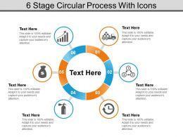 6 Stage Circular Process With Icons
