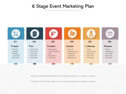 6 Stage Event Marketing Plan