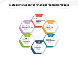 6 Stage Hexagon For Financial Planning Process