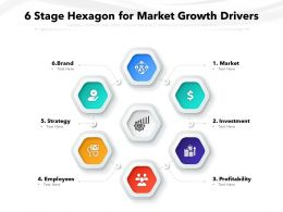 6 Stage Hexagon For Market Growth Drivers