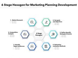 6 Stage Hexagon For Marketing Planning Development