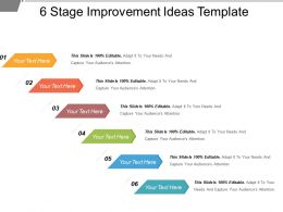6 Stage Improvement Ideas Template Powerpoint Slide