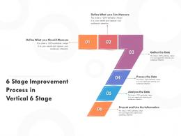 6 Stage Improvement Process In Vertical 6 Stage