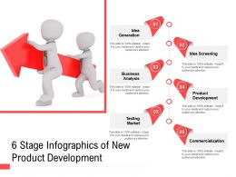 6 Stage Infographics Of New Product Development