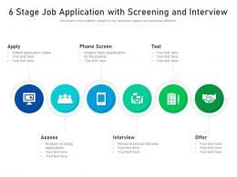 6 Stage Job Application With Screening And Interview