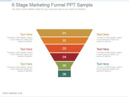 6 Stage Marketing Funnel Ppt Sample