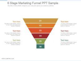 6 Stage Marketing Funnel Ppt Sample