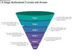 6 Stage Multicolored Funnels With Arrows