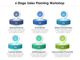 6 Stage Sales Planning Workshop