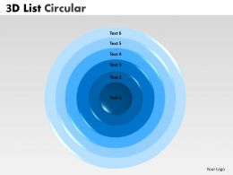 6 Staged 3D Circular Diagram