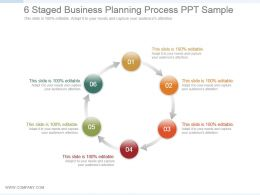6 Staged Business Planning Process Ppt Sample