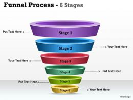 6 Staged funnel Process Diagram