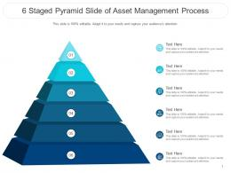 6 Staged Pyramid Slide Of Asset Management Process Infographic Template