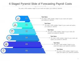 6 Staged Pyramid Slide Of Forecasting Payroll Costs Infographic Template
