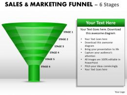 6 Staged Sales Marketing Process Diagram