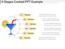 6 Stages Cocktail Ppt Example