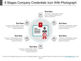 6 Stages Company Credentials Icon With Photograph
