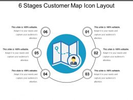 6 Stages Customer Map Icon Layout
