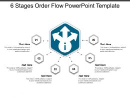 6 Stages Order Flow Powerpoint Template