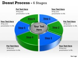 6 Stages Pie Donut Chart Business Statistics 3
