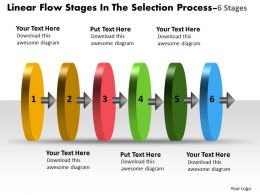 6 Stages Selection Process Flowchart Slides Powerpoint Templates