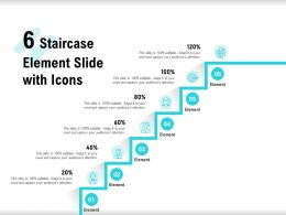 6 Staircase Element Slide With Icons