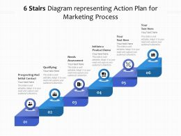 6 Stairs Diagram Representing Action Plan For Marketing Process