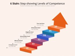 6 Stairs Step Showing Levels Of Competence