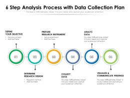 6 Step Analysis Process With Data Collection Plan