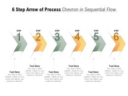 6 Step Arrow Of Process Chevron In Sequential Flow