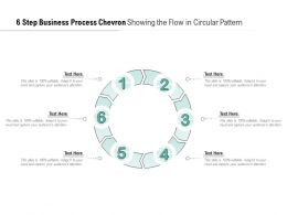 6 Step Business Process Chevron Showing The Flow In Circular Pattern