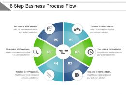 6 Step Business Process Flow Powerpoint Slide Inspiration