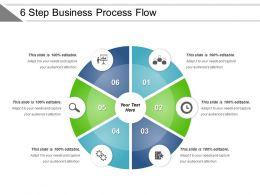 6 Step Business Process Flow Powerpoint Slide Inspiration