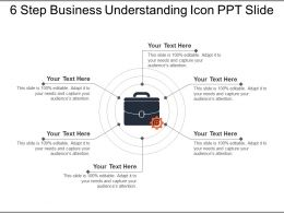 6 Step Business Understanding Icon Ppt Slide
