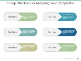 6 Step Checklist For Analyzing Your Competition Powerpoint Graphics
