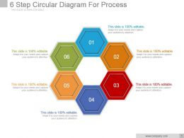 6 Step Circular Diagram For Process Powerpoint Slide Background