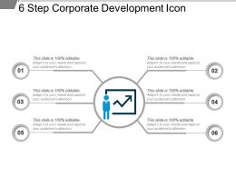 6 Step Corporate Development Icon Powerpoint Slide